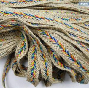 20mm-x10m-Rustic-Braided-Hessian-Jute-twine-string-Color-burlap-Trim-Edging-gimp-Craft-supplies-Zakka