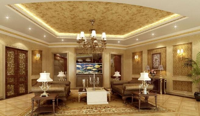 Luxury-living-room-aquarium-stairs